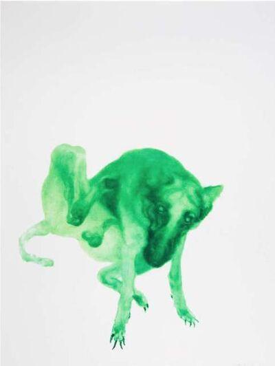 Zhou Chunya 周春芽, 'Green Dog no.2', 2012