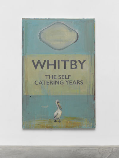 Harland Miller, 'Bad Weather Painting 2', 2020