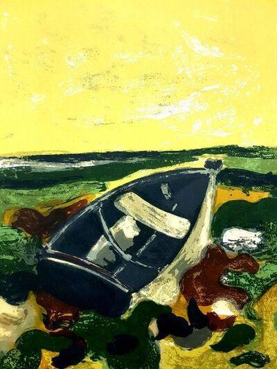 "André Minaux, 'Original Lithograph ""Abandonned Boat"" by André Minaux', 1964"