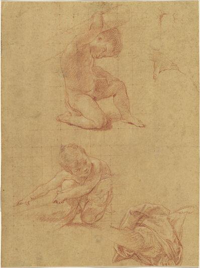 Pompeo Batoni, 'Study Sheet with Two Putti', ca. 1748