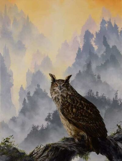 Brian Mashburn, 'Eagle Owl and Mantis', 2021