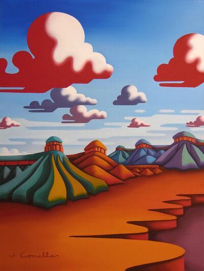 Joseph Comellas, 'High Desert Canyons  ( original Oil on canvas) ', 2020
