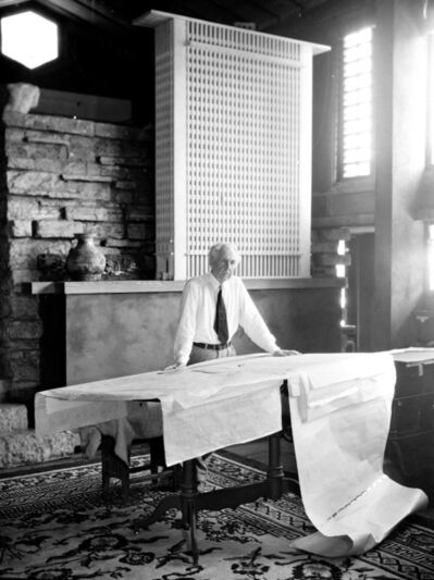 Pedro E. Guerrero, 'Frank Lloyd Wright, I'm An Architect, Taliesen, Spring Green, WI', 1947