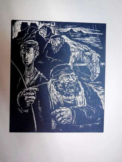 Arthur Kolnik, 'Shtetl Scene Woodcut', 1930-1939
