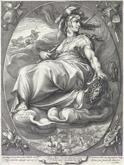 Hendrik Goltzius, 'Three engravings', 1596