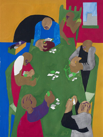 Jacob Lawrence, 'Games-Five Card Stud ', 1999