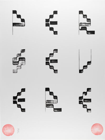 Tauba Auerbach, 'PERSEVERE III poster', 2017