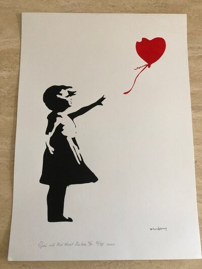 After Banksy, 'Girl With Red Heart Balloon', 2020