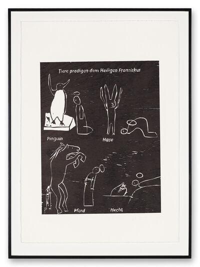 Andrea Büttner, 'Tiere Predigen dem Heiligen Franziskus (Animals preaching to St. Francis)', 2004