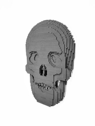 Nathan Sawaya, 'Flat Skull Dark Gray', 2020