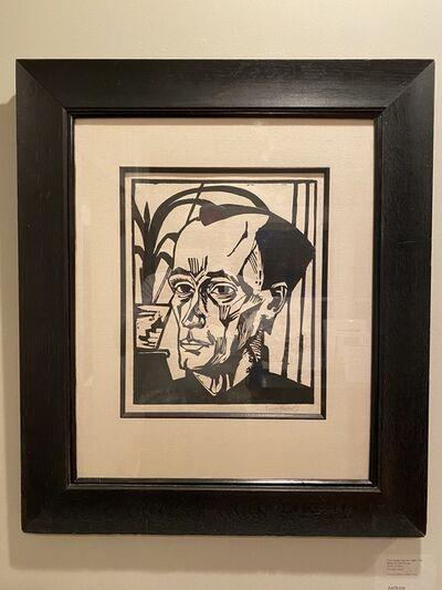Erich Heckel, 'Bildnis E.H. self portrait E.H.', 1917