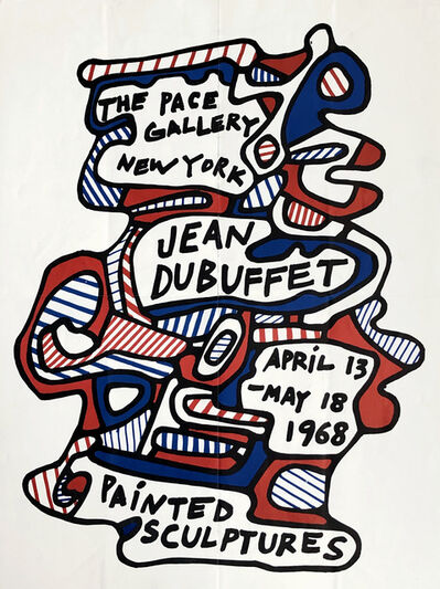 Jean Dubuffet, 'Jean Dubuffet Painted Sculptures exhibition poster 1968 (Jean Dubuffet at Pace gallery)', 1968
