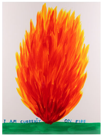 David Shrigley, 'I Am Currently On Fire', 2017