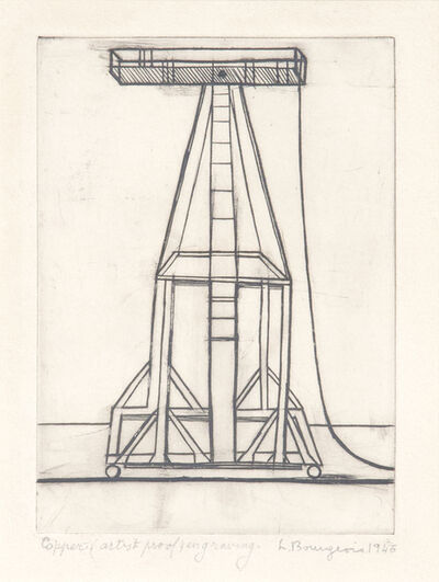 Louise Bourgeois, 'Plate 5 of 9 from He Disappeared Into Complete Silence alternate title: Port Tableau (Easel)', 1946-1947