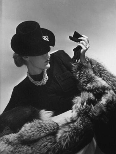 Horst P. Horst, 'Model in black holding glove'