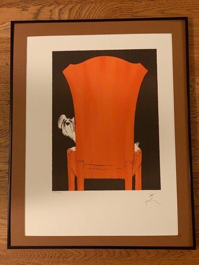 René Gruau, 'Pooch in Chair', 1990