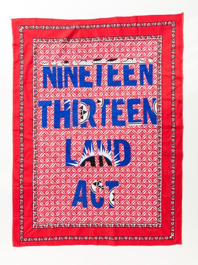 Lawrence Lemaoana, '1913 Land Act', 2017