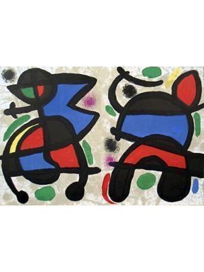 Joan Miró, 'Derriere le Miroir, no. 186, pg 14,19', 1970