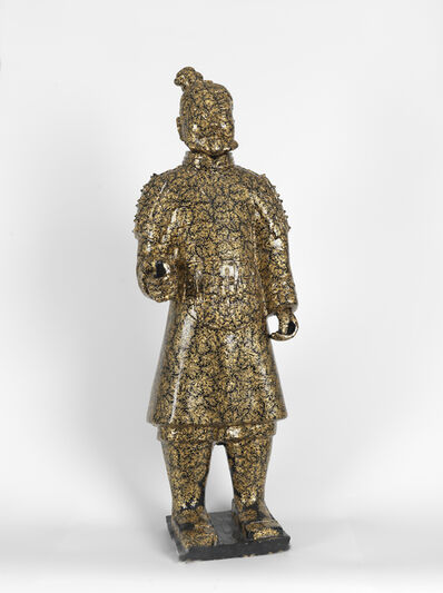 Fenghua Liu, 'Terracotta Warrior- Gold & Black', ca. 2006