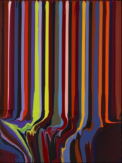 Ian Davenport, 'Puddle Painting: Indian Red No. 1', 2012