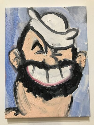 Erik Hanson, 'Oil painting portrait of Bluto: 'Ladies and Gentleman, here's Bluto'', 2017