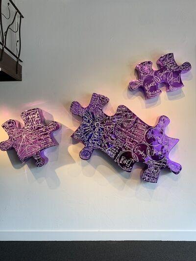 Brendan Murphy, 'Life is a Jigsaw I, II, III (purple)', 2019
