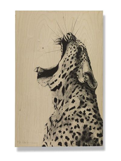 Rose Corcoran, 'Leopard Sound on Wood Silkscreen'