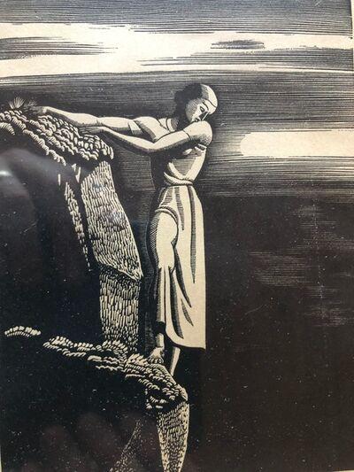 Rockwell Kent, 'Girl on Cliff', 1930