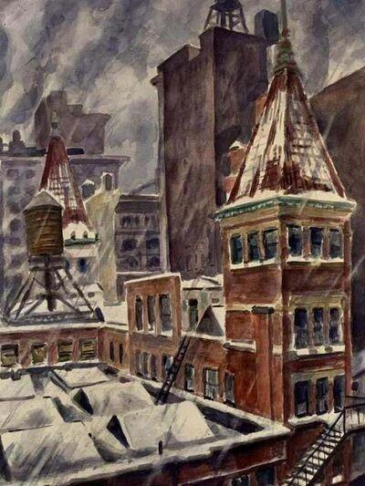 Bertram Hartman, 'Snow Storm in New York City, Rooftops', 1943