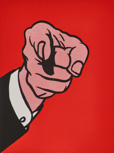 Roy Lichtenstein, 'Finger Pointing from The New York Collection for Stockholm', 1973