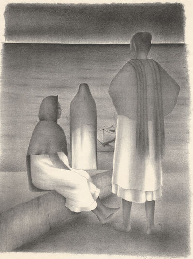 Francisco Dosamantes, 'La Espera (Waiting Women in Mexico)', ca. 1940