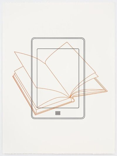 Michael Craig-Martin, 'Book / Kindle', 2017
