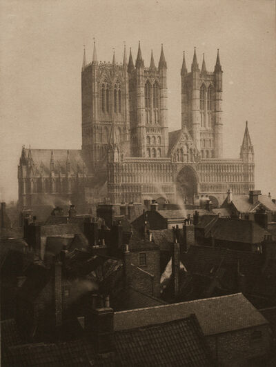 Frederick Henry Evans, 'Lincoln Cathedral from the Castle', 1898