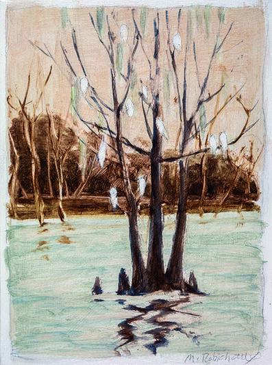 Marguerite Robichaux, 'Egrets'