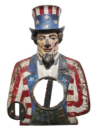 """Unknown Artist, '""""Shake With Your Uncle Sam"""", Uncle Sam Strength Tester', 1904"""