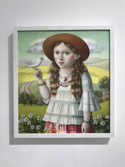 Amy Hill, 'Young Woman with Bird', 2018