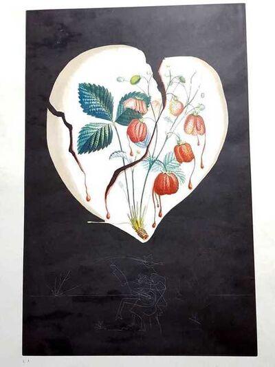 "Salvador Dalí, 'Original Lithograph ""Flordali - Heart of Strawberries"" by Salvador Dali', 1969"