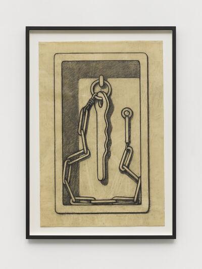 """Konrad Klapheck, 'Vorzeichnung zu """"Der verhinderte Apostel""""', 1992"""