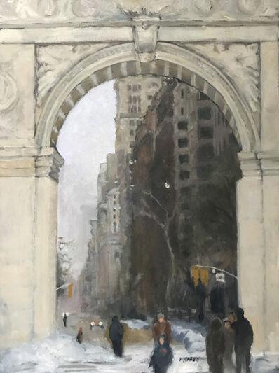 Mary Carew, 'A Winter's Day At Washington Square', 2017
