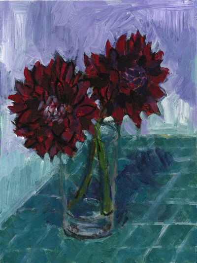 Jonathan Weinberg, 'Two Red Dahlias', 2018