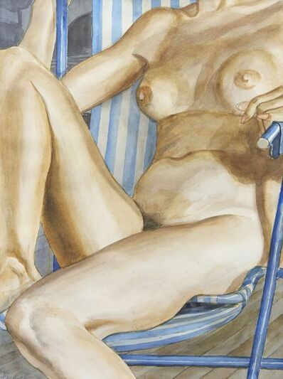 Philip Pearlstein, 'Seated female nude', 1986