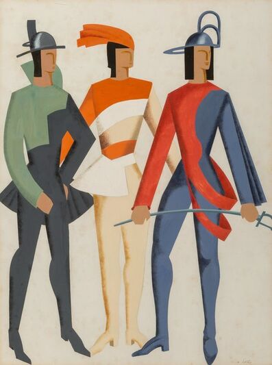 Alexandra Exter, 'Trois Hommes - Don Juan', 1929