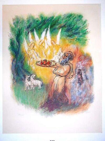Reuven Rubin, 'Bible Lithograph, Abraham feeding the Angels', 1970-1979