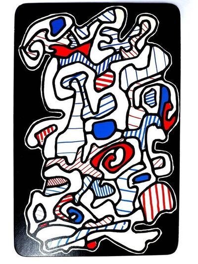 "Jean Dubuffet, 'Card ""The Gypsy"" by Jean Dubuffet', 1967"