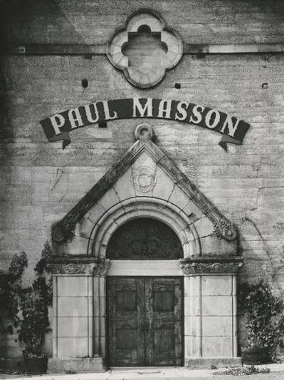 Ansel Adams, 'Winery Facade, Paul Masson Vineyards', 1959