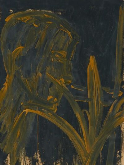Lester Johnson, 'Head with Plant', 1959