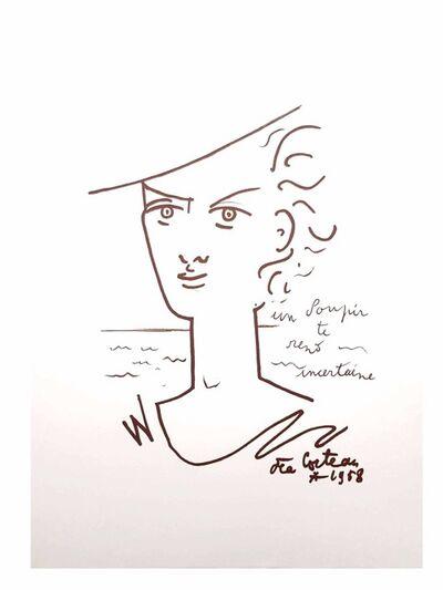 "Jean Cocteau, 'Original Lithograph ""Sigh"" by Jean Cocteau', 1958"