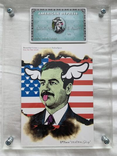 D*Face, 'D*FACE AMERICAN DEPRESS CARD & SADAMNED SHOW ART SET', 2008