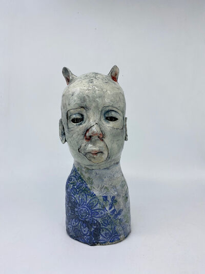 Ashley Benton, 'Ceramic sculpture:: 'He wore it so no one would see him'', 2021