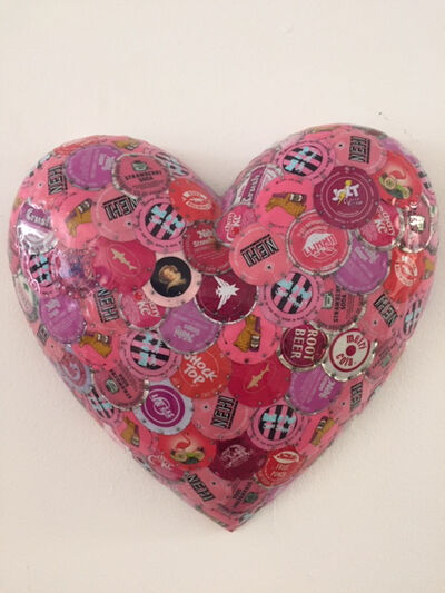 Dakota Pratt, 'Puffy Heart, Pink', 2020